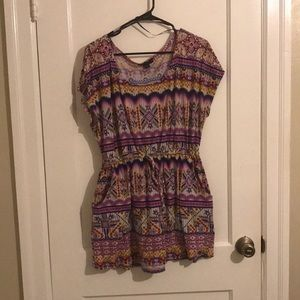 Forever 21 Multicolored Tunic 1XL