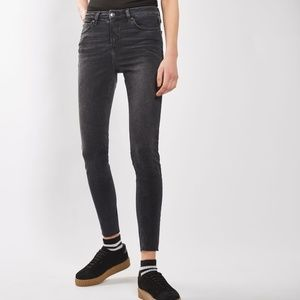 Topshop Black Washed Skinny Jeans