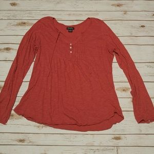 Lucky Brand // Burnt Orange Long Sleeve Top