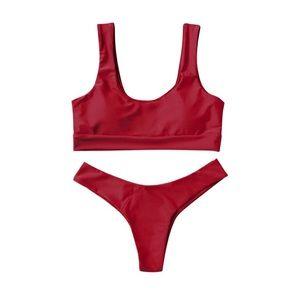 Red Darby Bikini Set