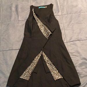 Adorable black button vest with sequins!