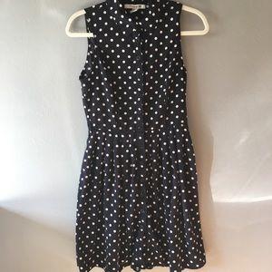 Classy Navy Polka-Dot Forever 21 Dress