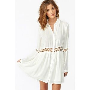 Nasty Gal Stylewalker Blanc Dress