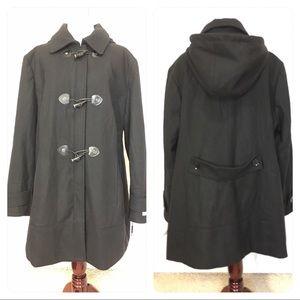 New!  Black Calvin Klein coat