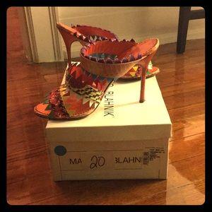 Manolo Blahnik multicolored stiletto sandals 36.5