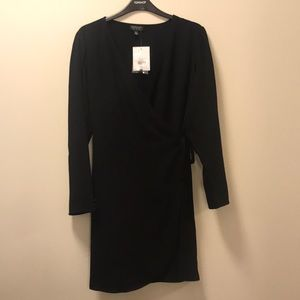 Topshop Black Crepe Dress NWT