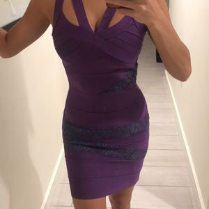 Purple bandage dress XS