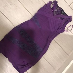 Dresses - Purple bandage dress XS