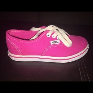Girls pink vans sneakers. Size 12.0 youth.