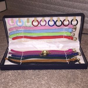 Geneva rainbow collection watch set