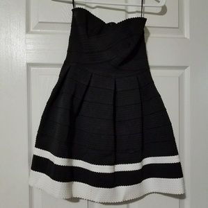 Small black and white dress