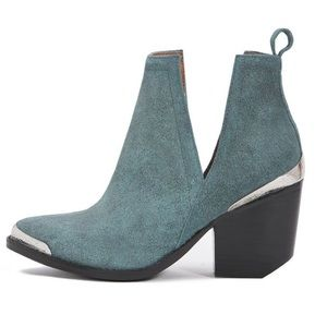 JEFFREY CAMPBELL Sanded Cromwell Suede Booties