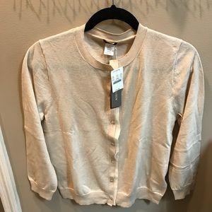 J Crew cream cardigan- tags still on - size L