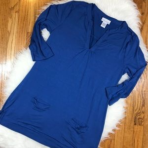 Soft Surroundings Knit Tunic with Pockets