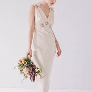 NEW Topshop Bride Embroidered Silk Gown Dress$480