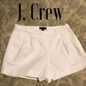 J. Crew white cotton shorts, size 2