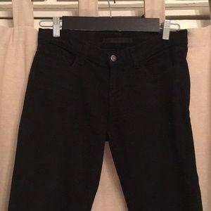 J Brand Jett Pencil Leg Black Jeans Size 27