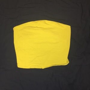 Urban Outfitters Silence and Noise Yellow Tube Top