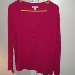 Old Navy size XL cardigan pink buttons