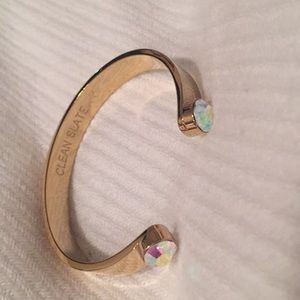 Kate Spade jeweled gold open bangle