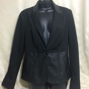 Express black faux leather jacket