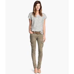H&M Green Skinny Cargo Pants