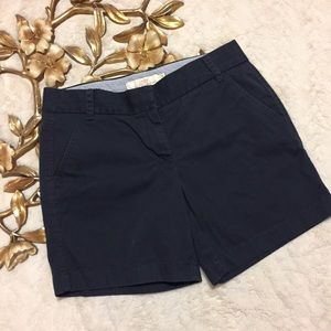J. Crew Chino 100% Cotton Broken in Shorts Size 4