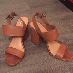BP Chestnut/Brown Block Heels size 7