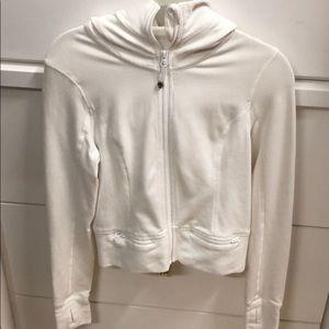 LuluLemon white zip hoodie sz 4