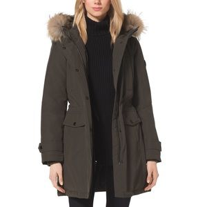 MK FUR TRIM DOWN PARKA