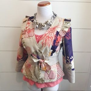 Anthropologie - Elevenses Patchwork Jacket