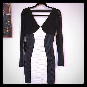 BEBE black and white dress