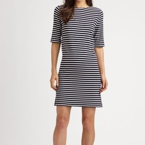 Theory Navy Striped Dress