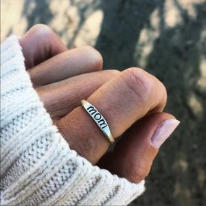 Jewelry - 🆕COMING SOON🆕 Dainty Silver Mom Ring