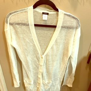 J.Crew 100% linen sweater size M