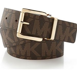 Michael Kors Monogram Reversible Slim Belt