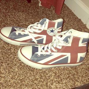 Union Jack/British Flag High Top Converse