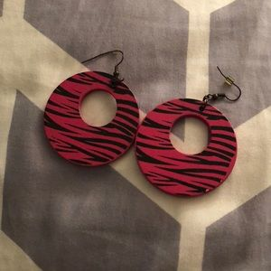 Black and Pink earrings (free with any purchase)