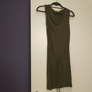 Olive Green Dress DVF size 2 like new