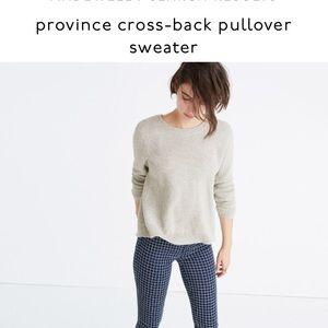 Madewell NWT Mauve Province Crossback sweater