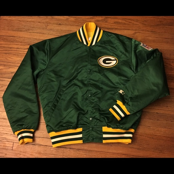 superior quality 4701f 26c02 Vintage Green Bay Packers Satin Starter Jacket L