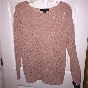 Blush pink knitted sweater