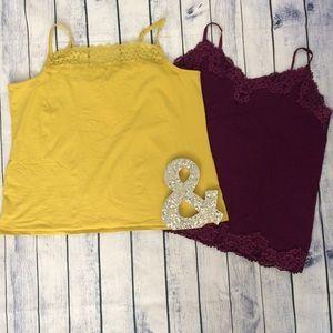 2 pc lace camisoles plus size 3x lane Bryant 22/24