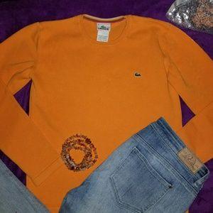 Luxurious Lacoste Crew Neck Mango Logo Sweater