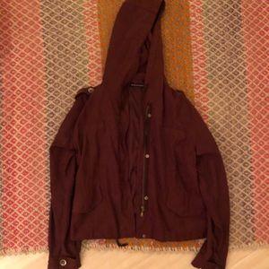 Jackets & Blazers - Brandy Melville burgundy jacket