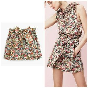 NWT, J. Crew Tie-waist short in Liberty Floral
