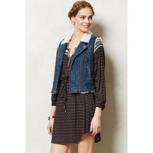Anthropologie Pilcro Denim & Sherpa  Moto Vest