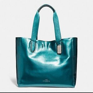 NWOT Mermaid Blue Turquoise Coach Derby Tote