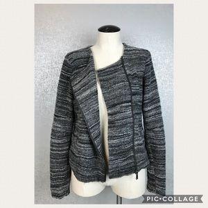 LOFT Knit Zip Blazer