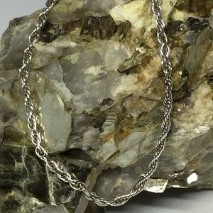 925 Sterling Silver Twisted Rope Bracelet